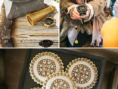 captain jack sparrow party character and compass cookies