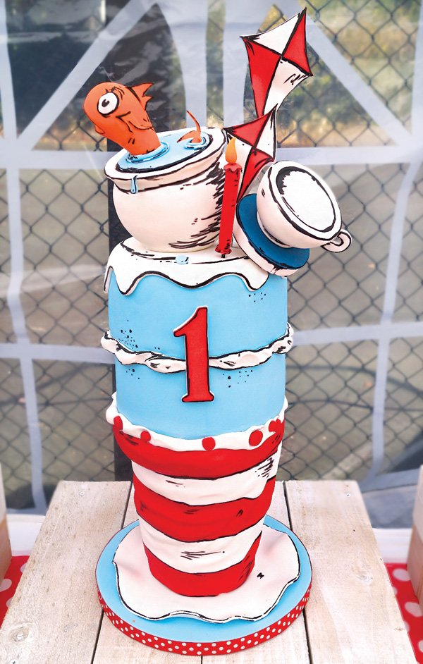 Terrific Quirky Dr Seuss Cat In The Hat First Birthday Party Hostess Funny Birthday Cards Online Alyptdamsfinfo