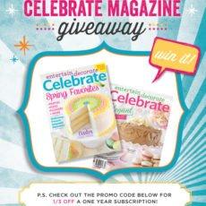 Celebrate Magazine Giveaway