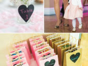 chalkboard heart table number centerpieces and party favor decor