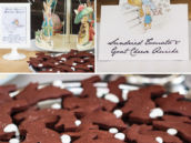chocolate bunny cookies with white frosted cookies
