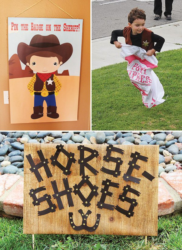 cowboy birthday party games and activities