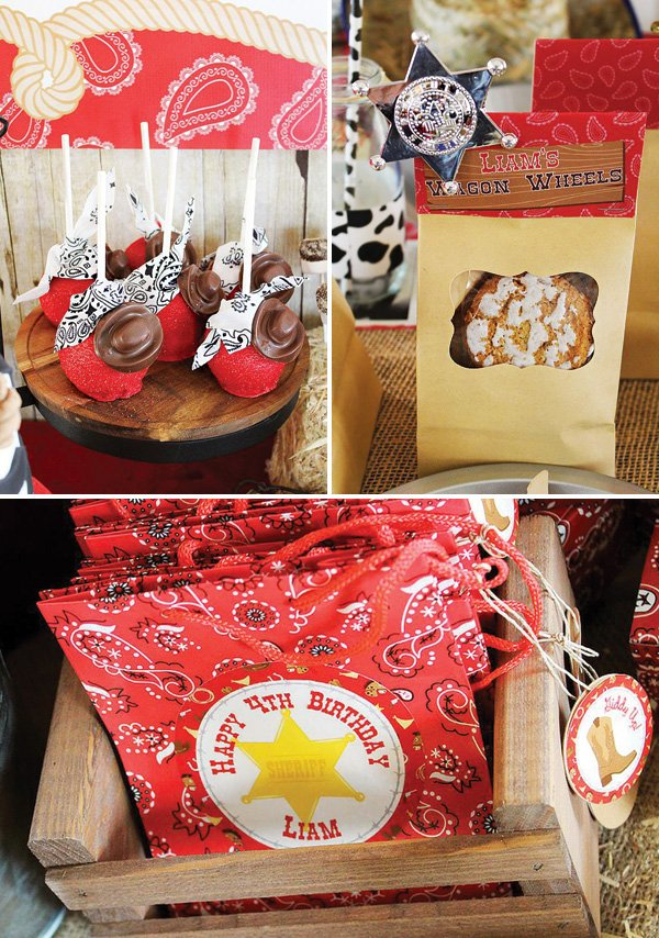 cowboy party desserts and party favors