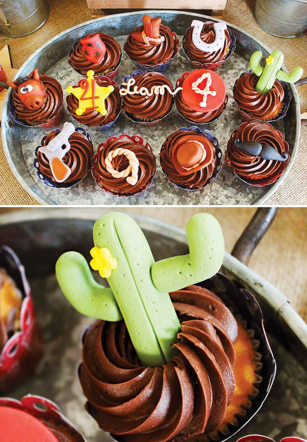 cowboy themed cupcakes