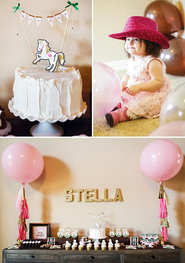 cowgirl first birthday party ideas