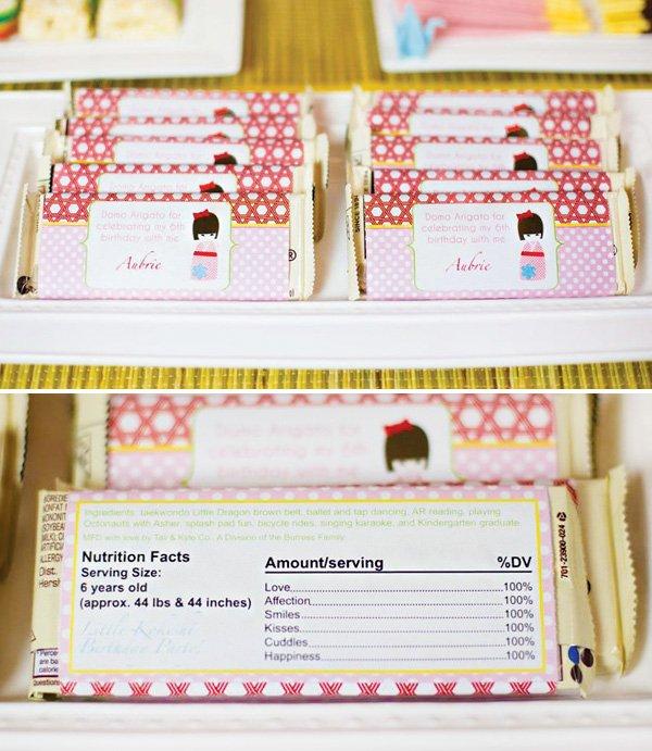 customized chocolate bar wraps