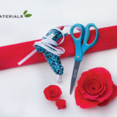crepe paper roses craft materials