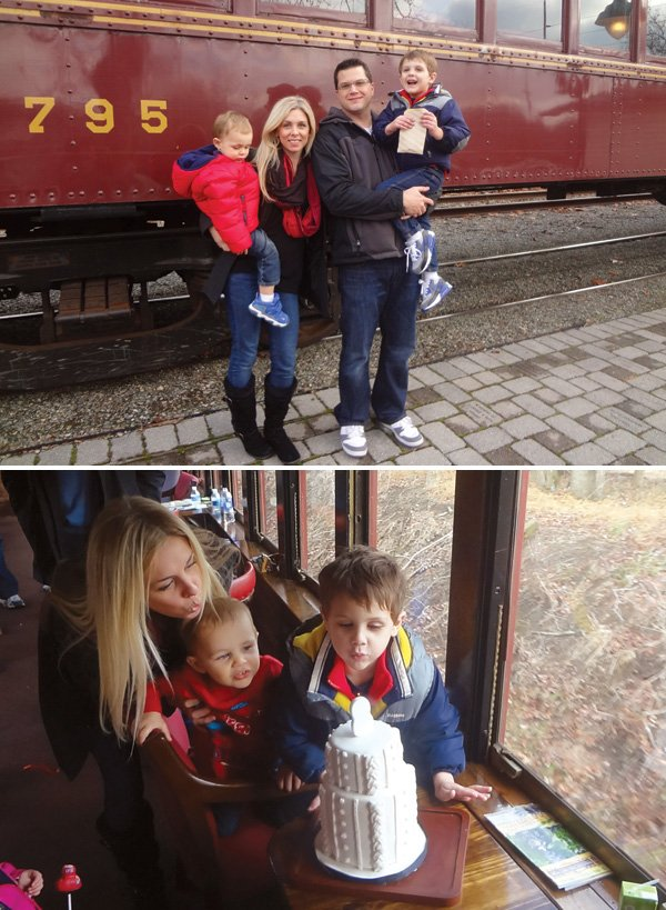 2nd birthday train ride