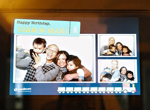 first birthday family photo booth