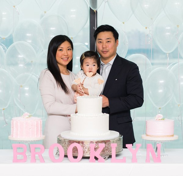 first birthday family photo