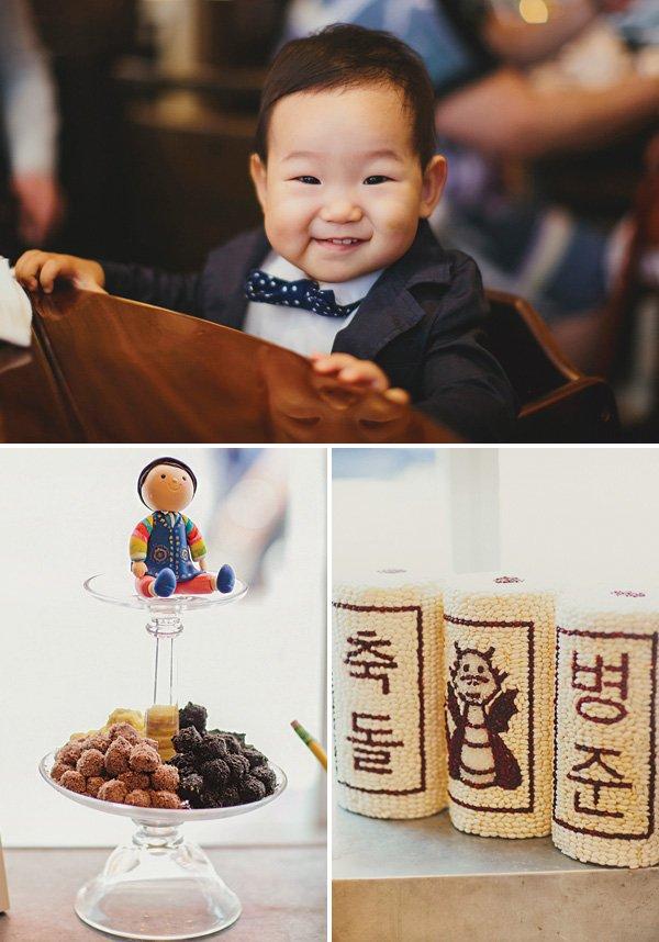 first birthday korean dol bean towers