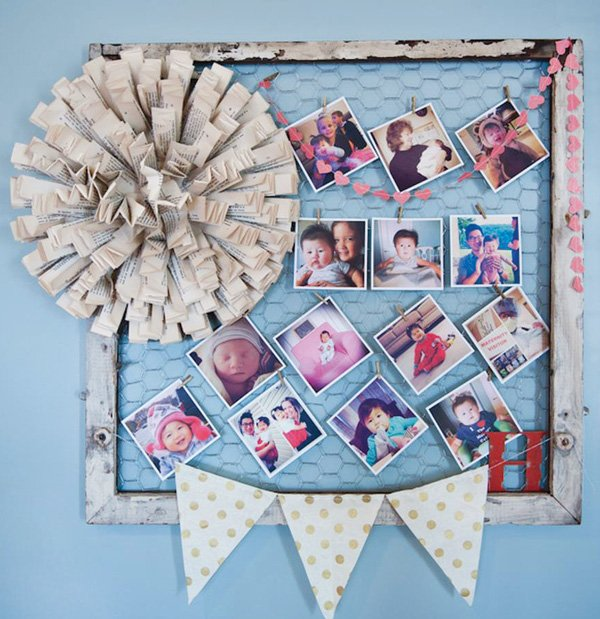 first birthday photo board