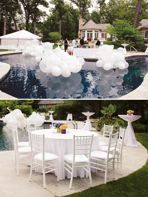 floating pool balloon sculptures