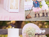 girly cowgirl party decor and photoshoot