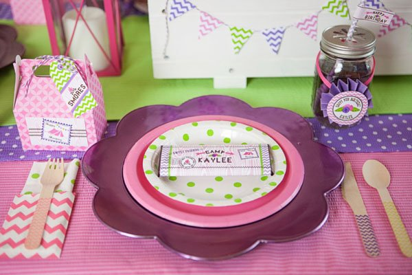 camping place setting