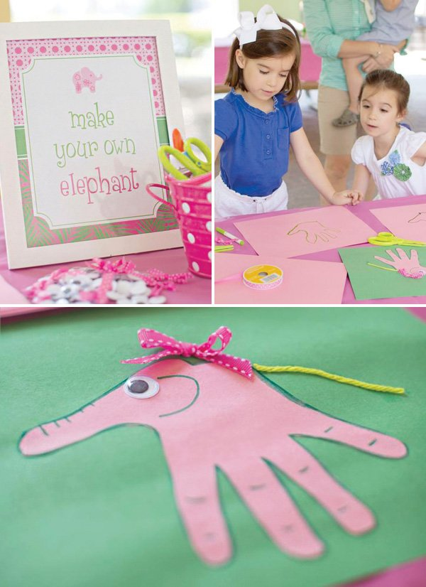 draw your own hand elephant activity
