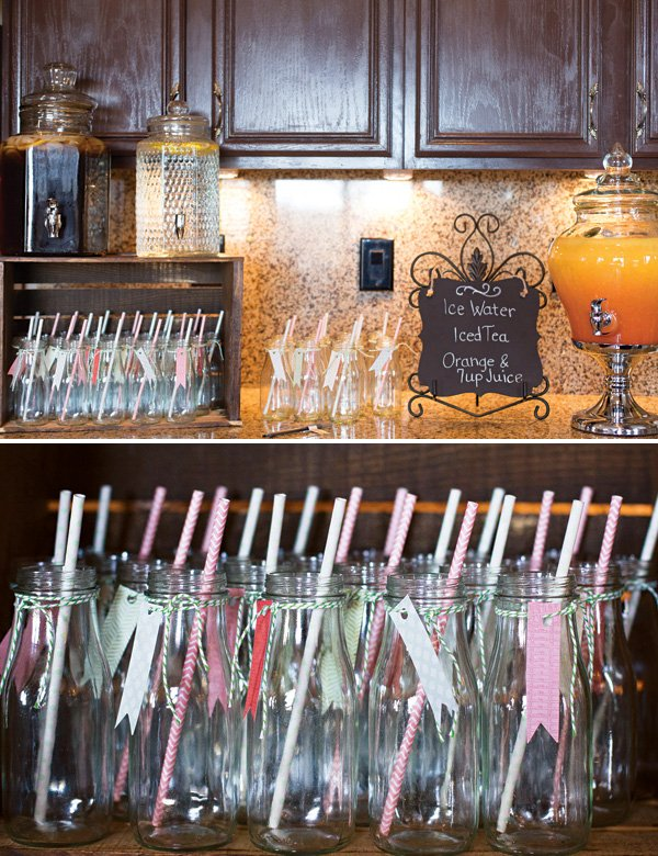 baby shower healthy drinks table
