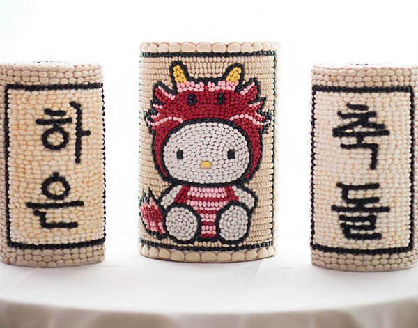 hello kitty bean towers for a korean dol