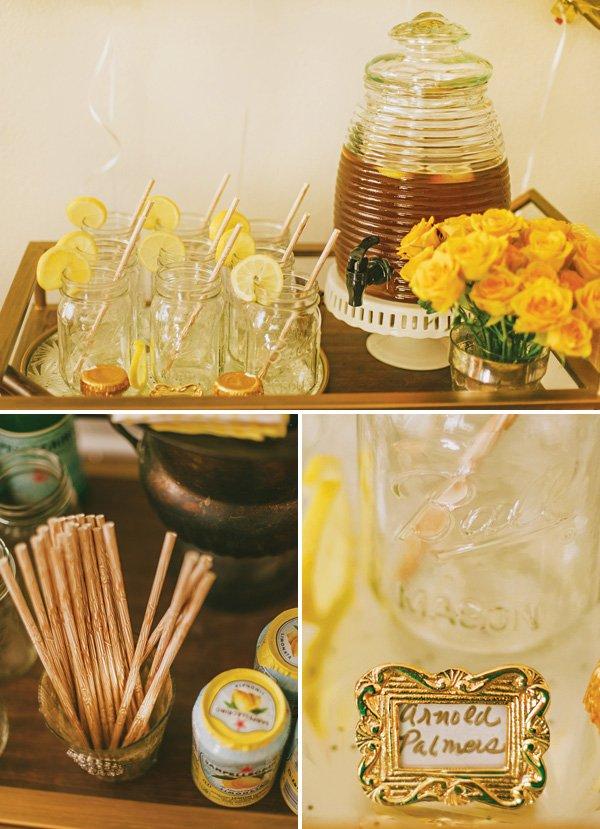 honey themed drinks cart