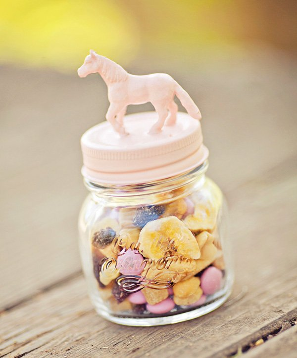 horse topped candy jar
