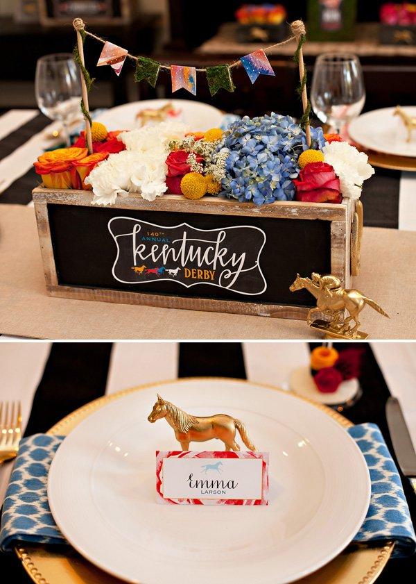 Festive elegant kentucky derby garden party