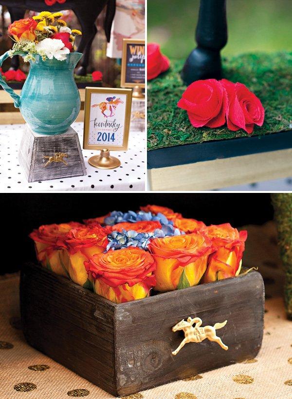 Kentucky Derby Garden Party Rose Decorations
