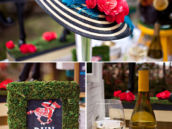 Kentucky Derby Hat with DIY Paper Flowers + Garden Party Wine and Decor
