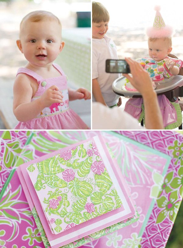lilly pulitzer first birthday party