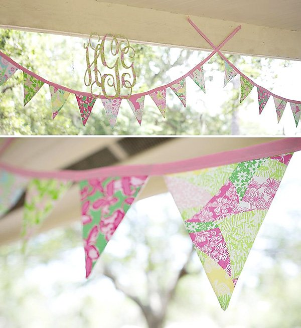 lilly pulitzer monogram and banner
