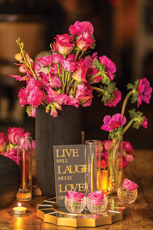 live laugh love birthday party sign
