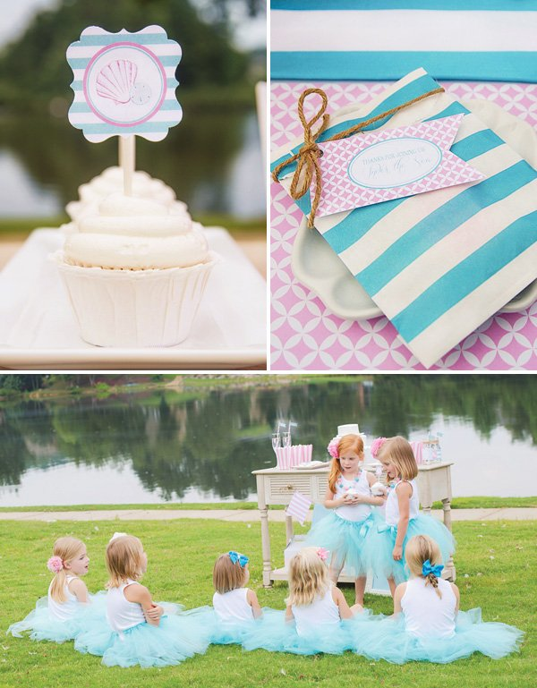 mermaids and mommies party decor