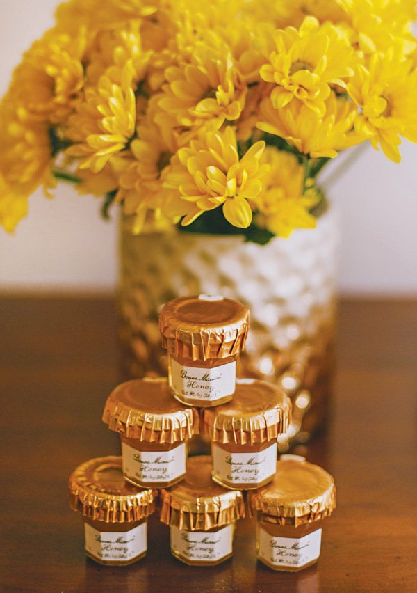 mini honey jar baby shower party favors