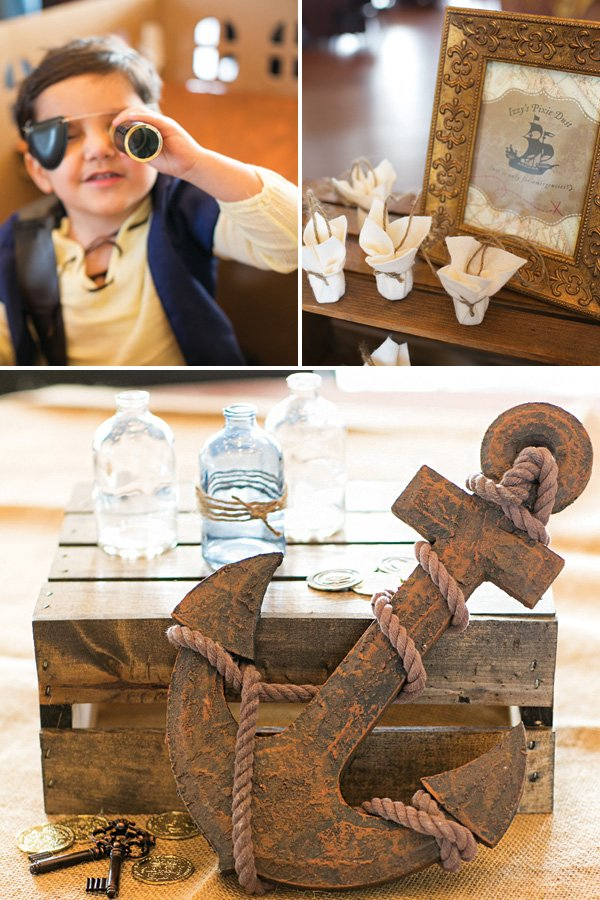 neverland party pixie dust and anchor decor