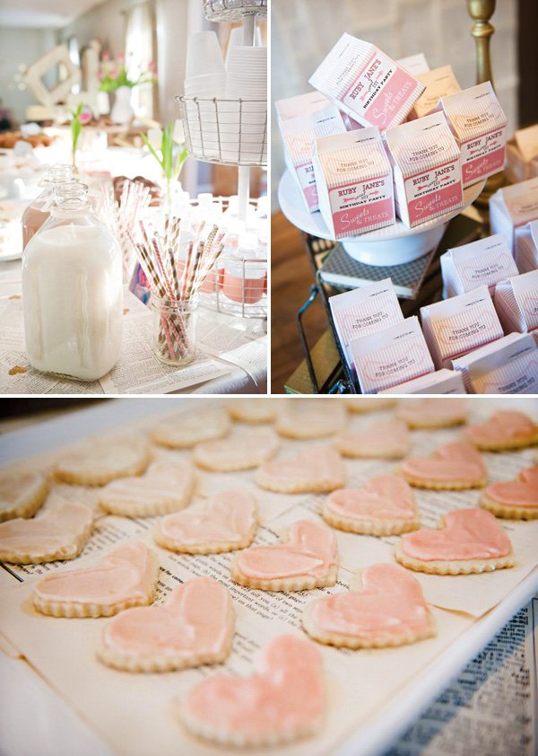 pink ombre heart cookies