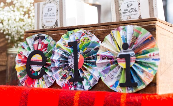 paper pinwheel birthday party decor