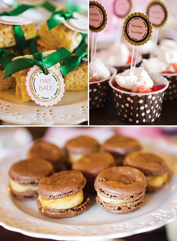 party dessert ideas and hay stack Rice Krispies