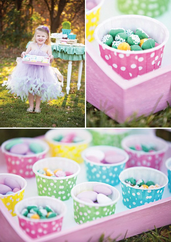pastel Easter candies