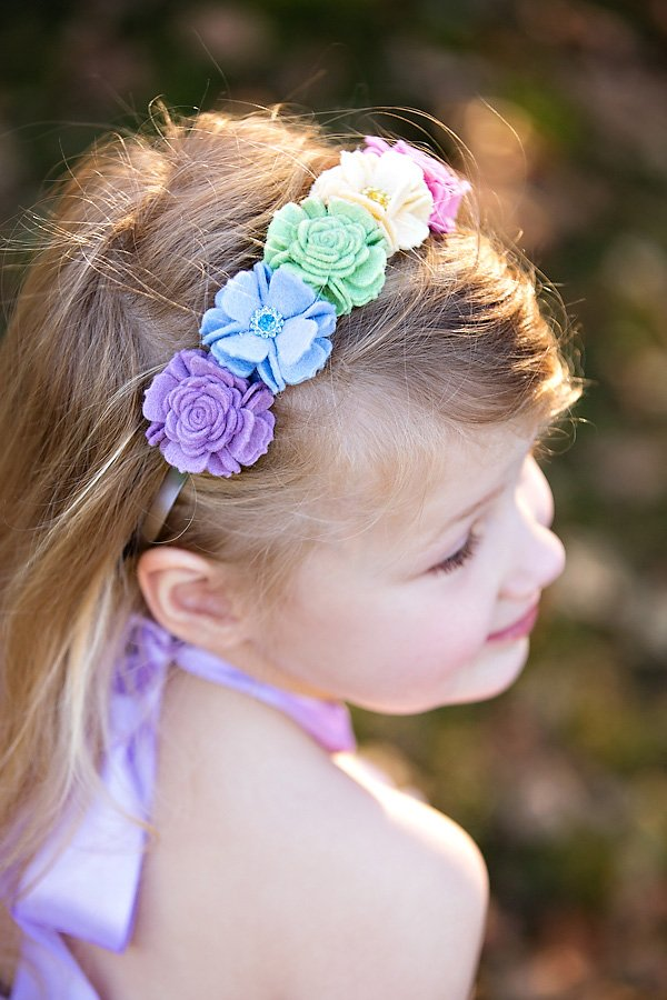 pastel rainbow flower headband