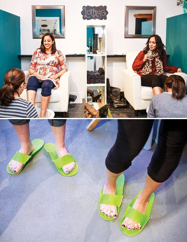 manicures & pedicures for a baby shower activity