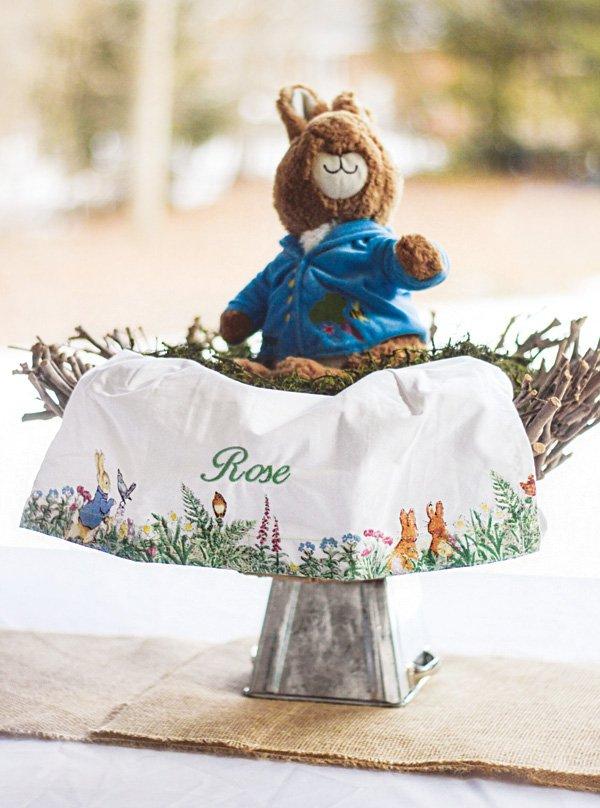peter rabbit personalized tea towel