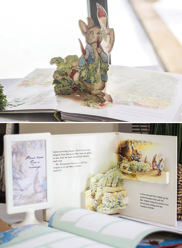 peter rabbit storybook first birthday guestbook