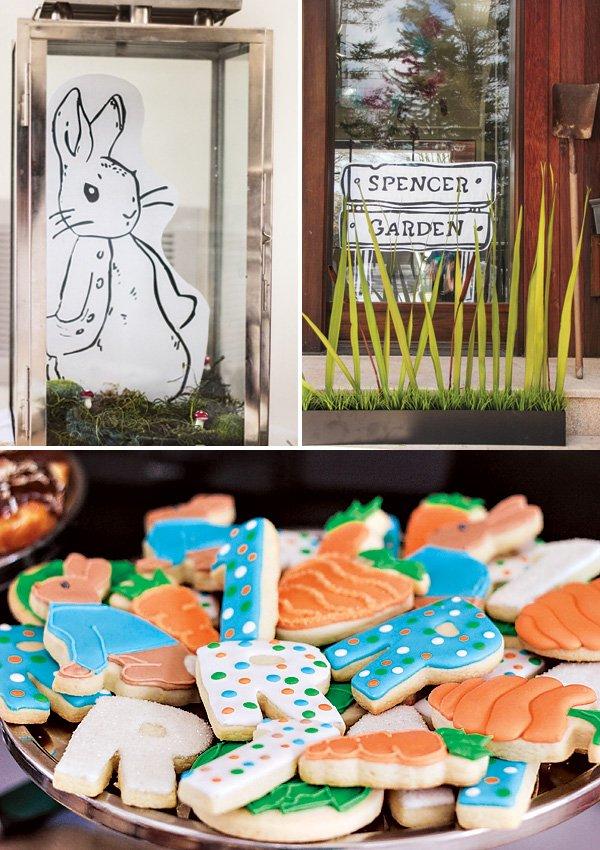 peter rabbit terrarium and garden party decor
