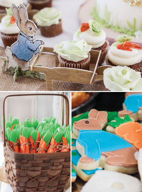 peter rabbit themed party desserts