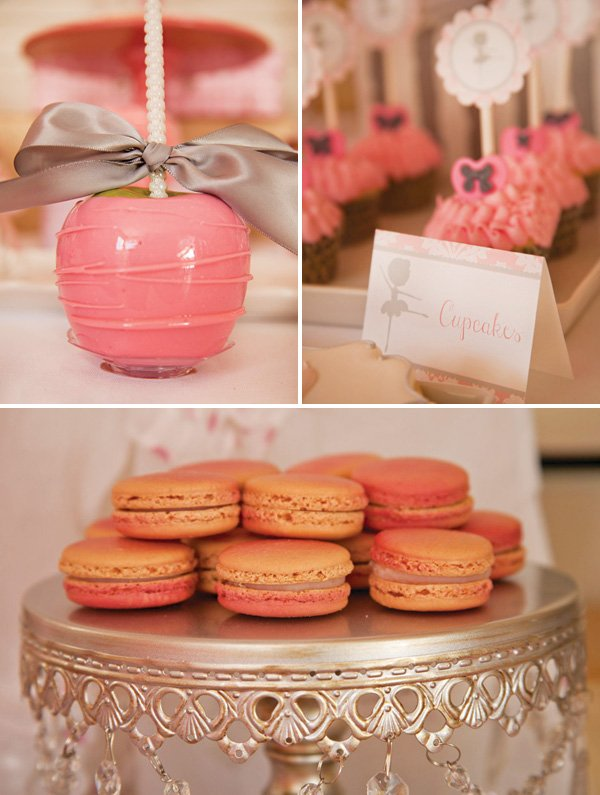girly pink party desserts