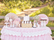 pink horse dessert table