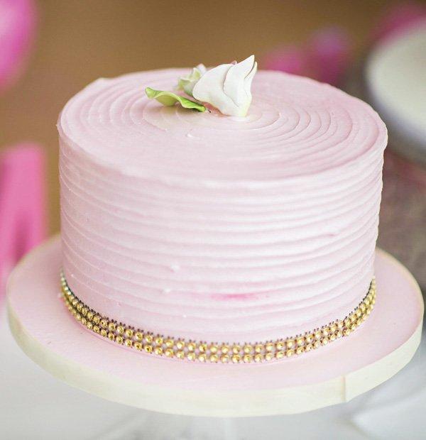 simple pink smash cake