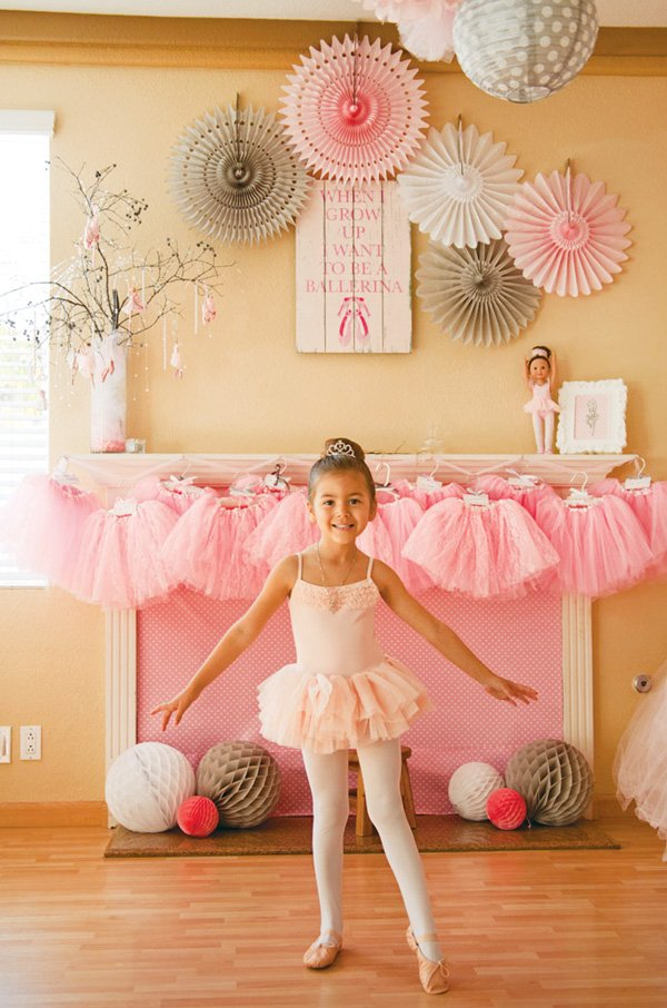 pink tutus for a ballet birthday party