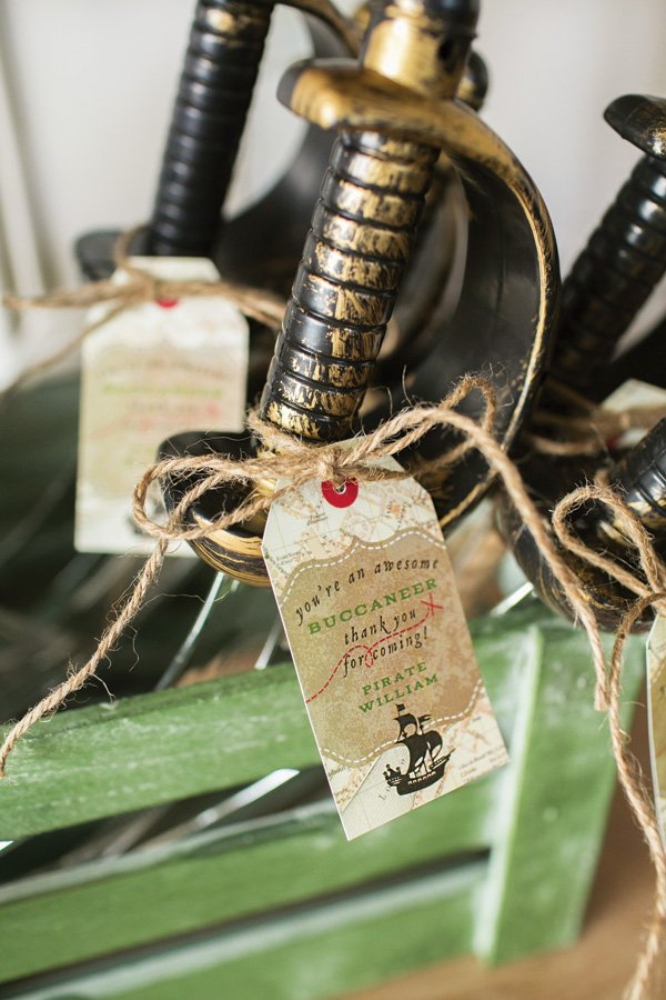 pirate sword party favors