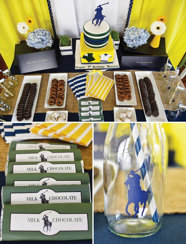 ralph lauren polo club dessert table