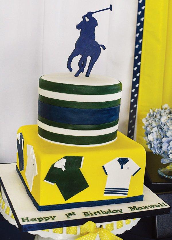 preppy polo birthday cake